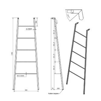 SEGA Handtuchtrockner 550x1700x70 mm, Edelstahlglanz