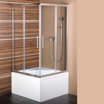 CARMEN Duschabtrennung Quadrat 800x800x1500mm, Klarglas