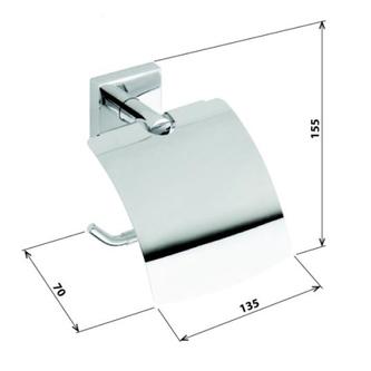 X-SQUARE Toilettenpapierhalter mit Deckel, Chrom