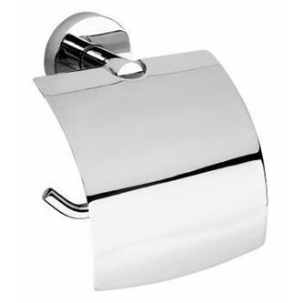 X-ROUND  E Toilettenpapierhalter mit Deckel, Chrom