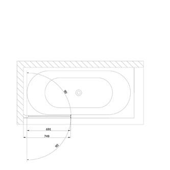 ONE Duschabtrennung 75x150cm, Klarglas