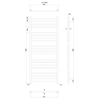 METRO Heizkörper 600x1530 mm, Chrome