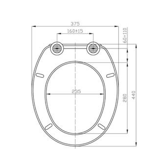 Uran WC-Sitz, Duroplast, universal, weiß