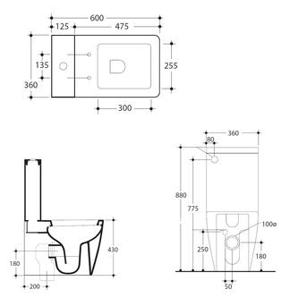 FLO-EGO Spülkasten zum Kombi-WC