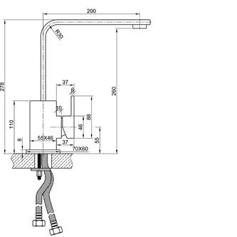MINIMAL Küchenamatur, 280mm, Edelstahl
