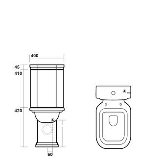 WALDORF Kombi-WC 40x42x68cm, Abgang senkrecht/waagerecht