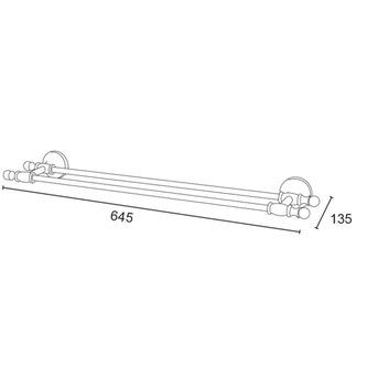 PERLA Handtuchhalter doppelt, 645 mm, Roségold