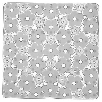 MARGHERITA Duscheinlage 51,5 x 51,5 cm, Anti-Rutsch, PVC, transparent