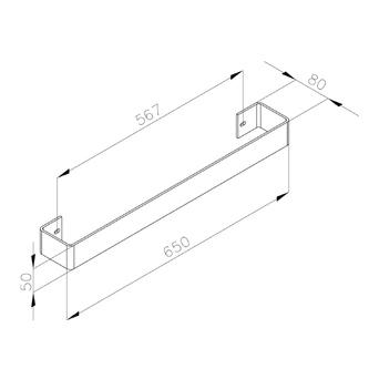 COLONNA Handtuchhalter 602x74mm, Chrome