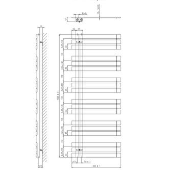 SILVANA Heizkörper 600x1500mm Anthrazit metall