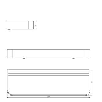 BELLA Handtuchhalter für Unterschränke, 250mm, Chrom