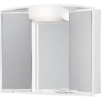 ANGY Spiegelschrank 59x50x15cm, 1x40W, weiß Kunststoff
