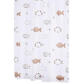 FISHES Duschvorhang 180x200cm, textil