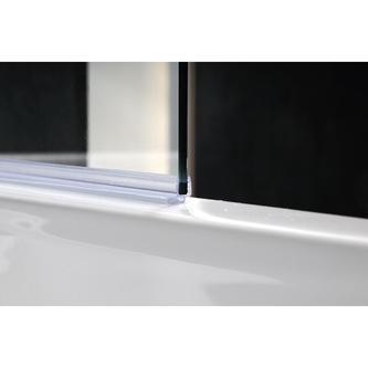 VITRA LINE Duschabtrennung 75cm, rechts, Klarglas