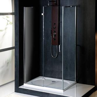 VITRA LINE Duschabtrennung Rechteck 1100x700mm, links, Klarglas