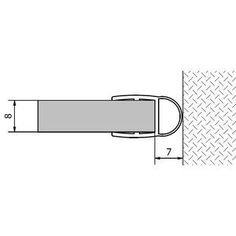 VITRA LINE Acryl-Dichtung zwischen Glas und Wand, Länge 2000mm 8mm Glas
