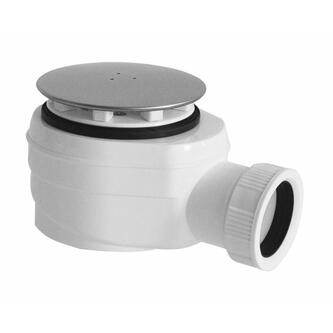 Duschwannensiphon für Keramik-Duschwannen, 60mm, Abdeckung polierter Edelstahl