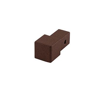 Quadro Aluminium Eckstück, passend zur Aluminium Schiene,strukturbeschichtet in terra braun, 10 und 11mm hoch