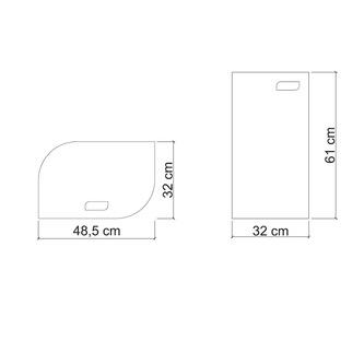 VELA Wäschekorb 48,5x61x32cm, grau