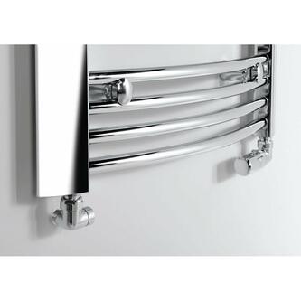 CORNER Thermostat-Anschlusset, rechts, gebürsteter Edelstahl