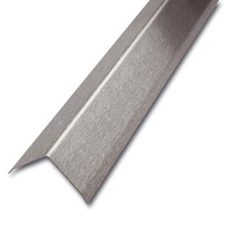 Edelstahl Eckschutzprofil, 3-fach gekantet, Oberfläche geschliffen, Stärke1,0mm, 200cm lang, Winkelmaß nach Wahl