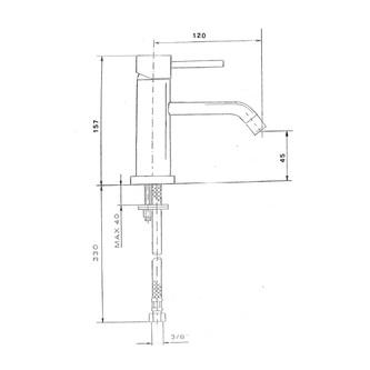 RHAPSODY Waschtischarmatur ohne Ablaufgarnitur, Höhe 157mm, Chrom