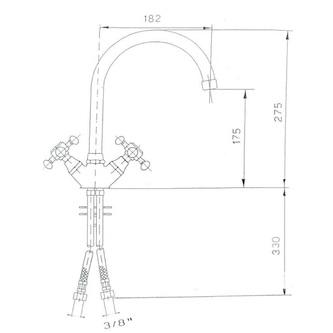 ANTEA Küchenarmatur, Höhe 275mm, Chrom