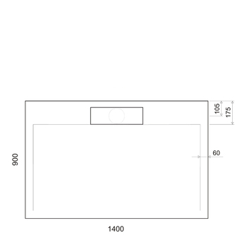 IRENA Duschwanne 140x90x3,5cm weiß