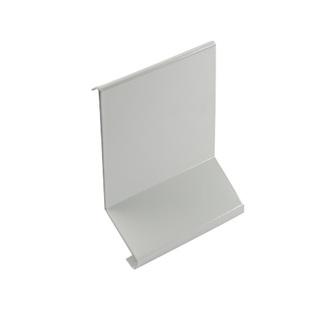 Verbinder/Eckstücke aus Aluminium, passend zum Kiesbettprofil Aluminium (FKP), grau, Höhe 48/65/95mm