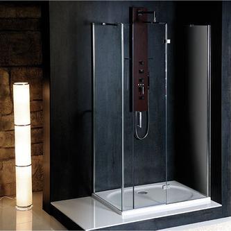 VITRA LINE Duschabtrennung Rechteck 1200x800mm, rechts, Klarglas