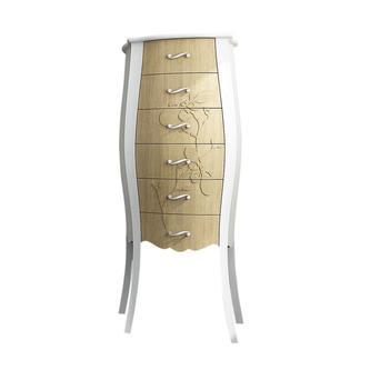 GELSO 55 Hochschrank mit Schubladen 55x131x35cm, bicolor
