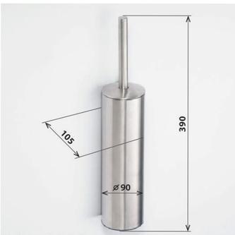 X-STEEL WC-Bürste zum Stellen / Hängen, gebürsteter Edelstahl