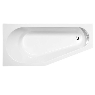 TIGRA Badewanne mit Füßen 170x80x46cm, links, weiß