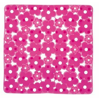 MARGHERITA Duscheinlage 51,5 x 51,5 cm, Anti-Rutsch, PVC, rosa