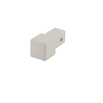 Quadro Aluminium Eckstück, passend zur Quadro Aluminium Schiene, strukturbeschichtet, dolomit, 10 und 11 mm hoch