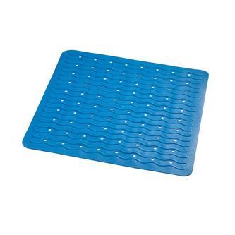 PLAYA Badvorlage 54x54cm, Anti-Rutsch, Kautschuk, blau