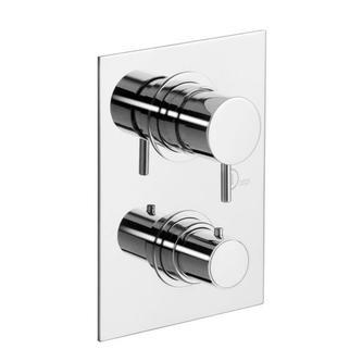 GO-NU Thermostat-Duscharmatur , 3 Wege, Chrom