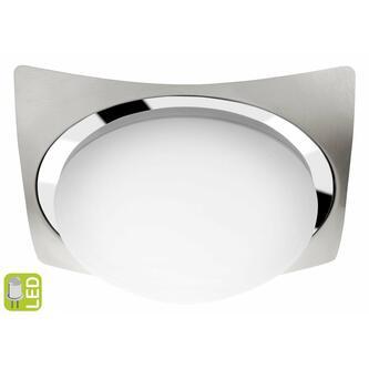 METUJE LED Deckenleuchte 12W, 230V, 26x26cm, Chrom/Boden Chrom