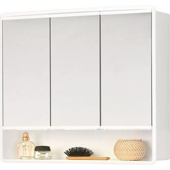 LYMO Spiegelschrank 58x49x14,7 cm, weiß Kunststoff