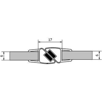 VITRA LINE Magnetdichtungen, Länge 2000mm für 6mm Glas
