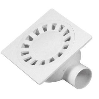 Bodeneinlauf 149x149, Abfluss 50mm, weiß