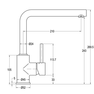 RHAPSODY Küchenarmatur, Höhe 270 mm, Chrom
