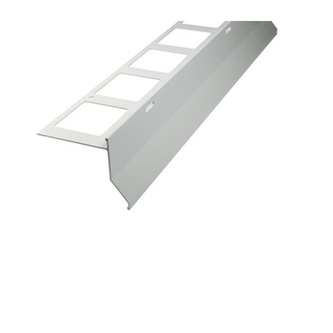 Balkonabdeckprofil Aluminium, Länge 300cm, 15 mm hoch,grau, Außenhöhe 79mm