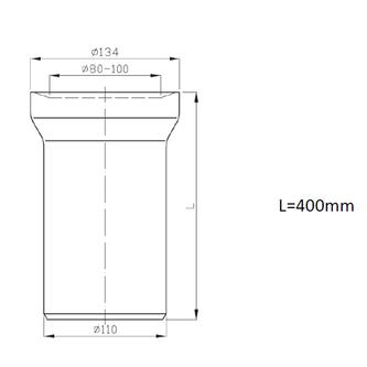 WC-Anschluss 40cm