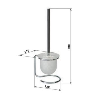 X-ROUND E WC-Bürste zum Stellen, Chrom