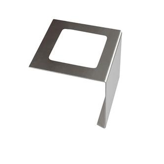 Verbinder aus Edelstahl, passend zum Balkonabdeckprofil Edelstahl, 75 mm hoch