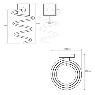 X-SQUARE Fönhalter, Spirale, Chrom