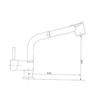 RHAPSODY Küchenarmatur mit ausziehbarer Spülbrause, 290mm, Chrom