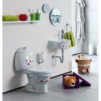 KID Kinder-WC inkl.Spülkasten, Abgang senkrecht, mit Farbdruck