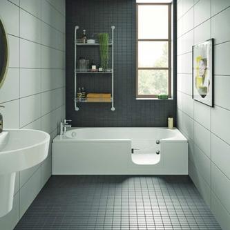 CASCADE Badewanne mit Tür/Seniorenbadewanne 150x70cm  Ausführung Rechts